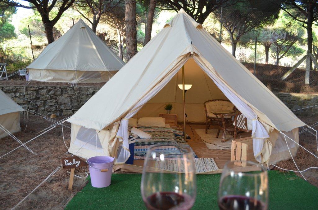 Camping Camaleón Kampaoh Los Caños de meca tienda de campaña