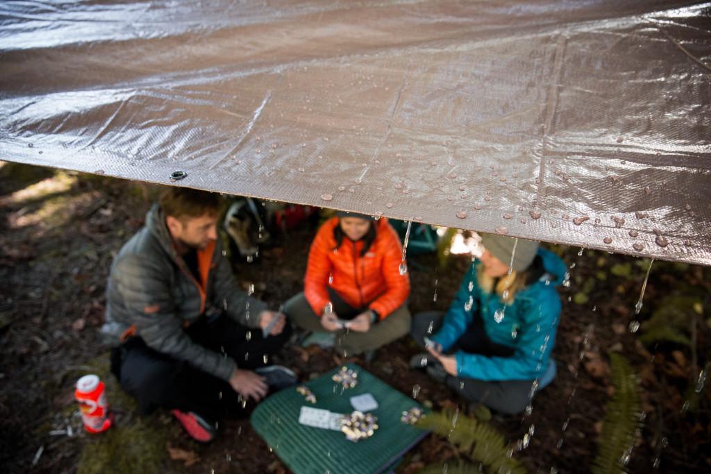 camping lluvia toldo