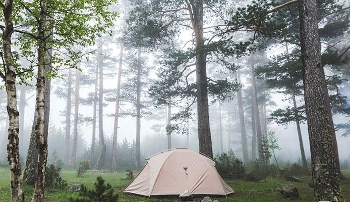 tienda de campaña camping