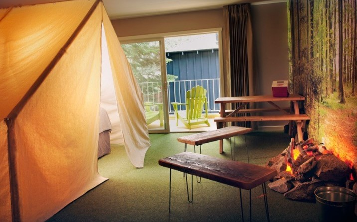 camping bungalow contra hotel
