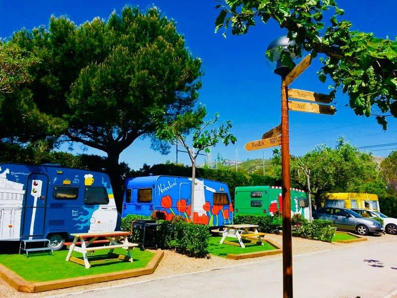 Caravanas hipster Camping La Massia Tarragona