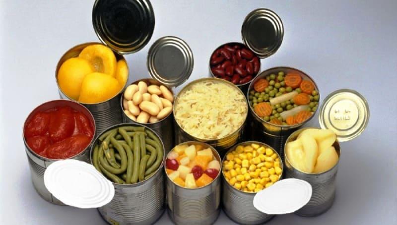 alimentos conserva comida para un camping