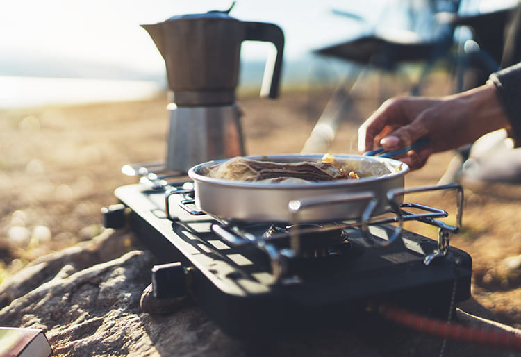 cocinar en un camping