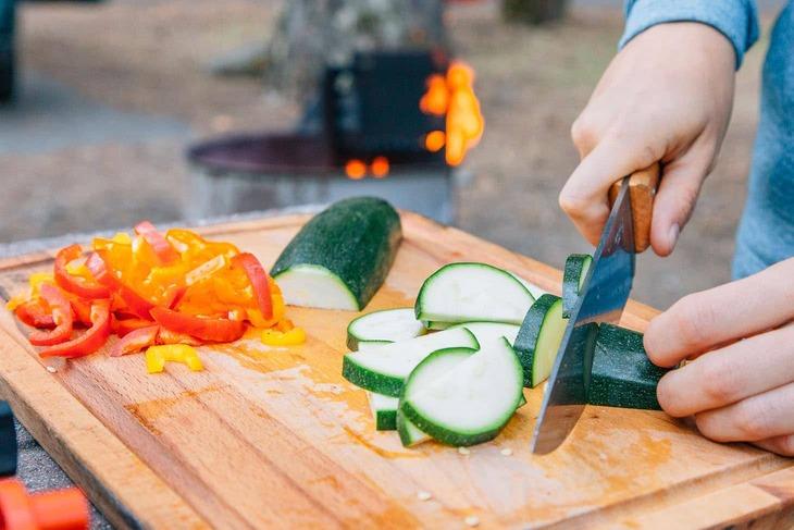 comida vegetariana para camping