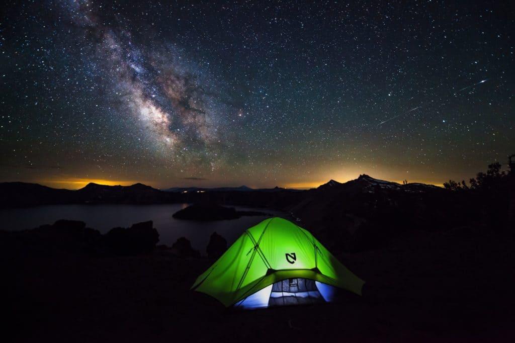 camping observar estrellas
