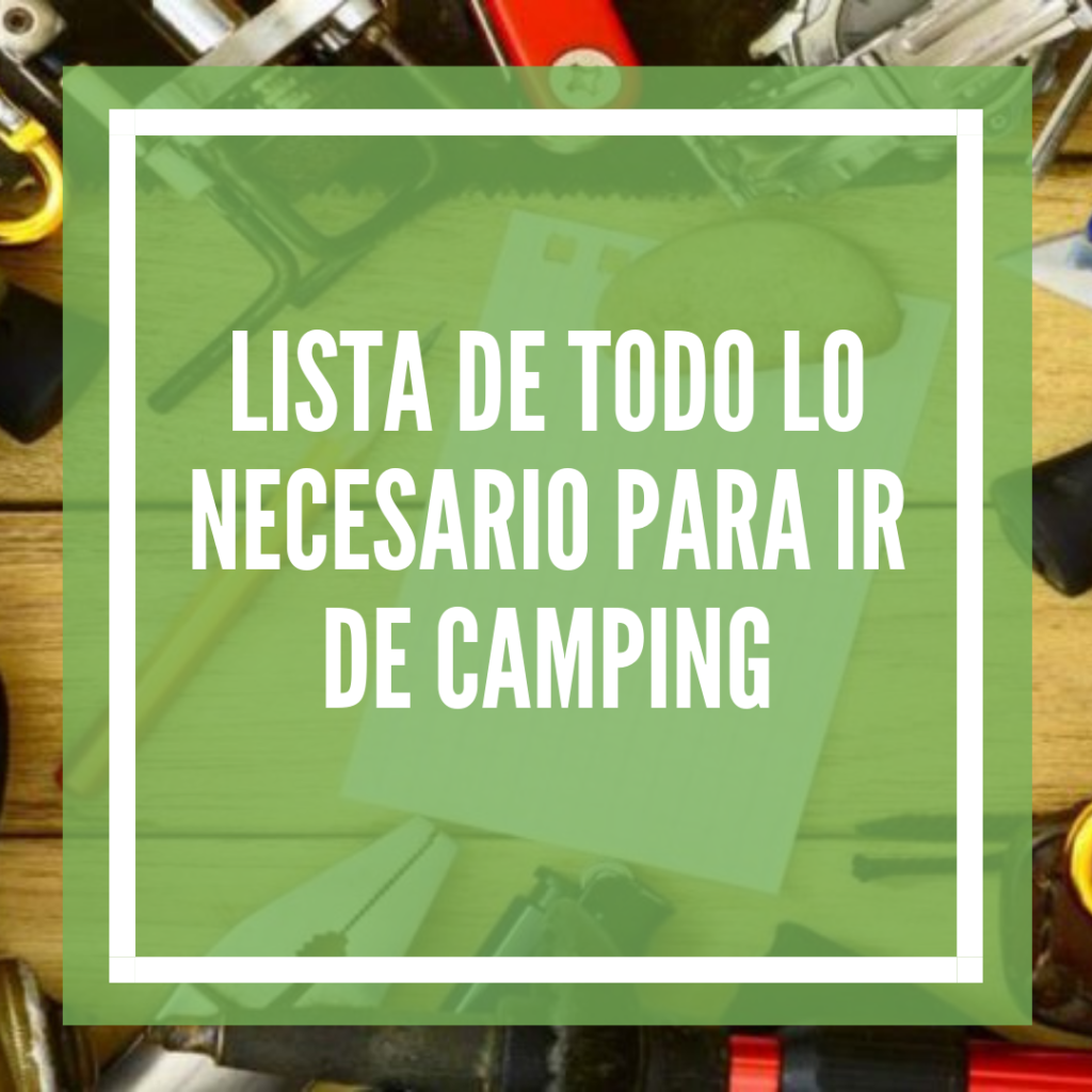 que llevar de camping